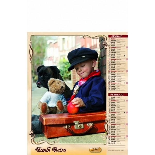 Calendario Bimbi.Calendario Bimbi Retro